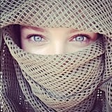 Candice Swanepoel covered up while partying at Burning Man. Source: Instagram user angelcandices