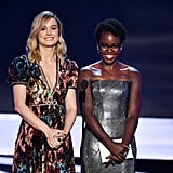 Pictured: Brie Larson and Lupita Nyong'o