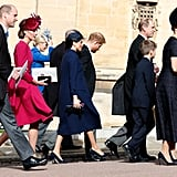 Charles led the way for the royal family at Princess Eugenie and Jack Brooksbank's wedding in October 2018.