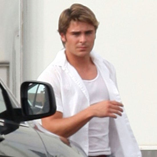 Zac Efron Blond Hair Pictures in New Orleans