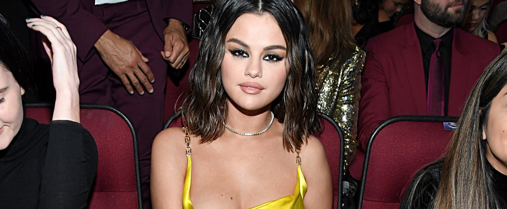 Selena Gomez Green Versace Lace Dress at the AMAs