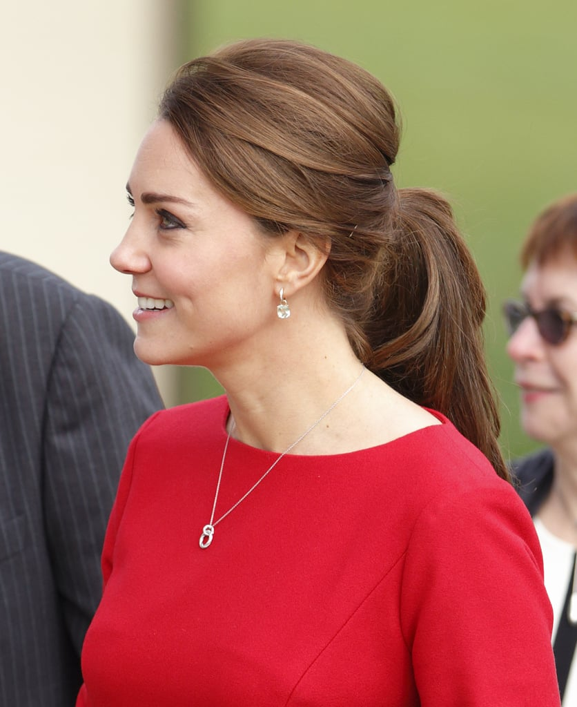 Loose pieces, waves, and volume? Kate Middleton's ponytail has us hot and bothered.