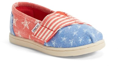 Toms Tiny Stars & Stripes Slip-On Shoe