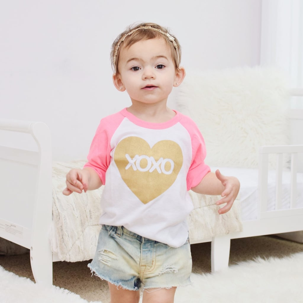 XOXO Heart Raglan