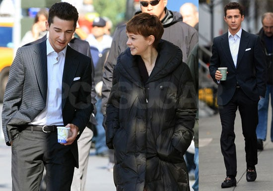 Photos of Shia LaBeouf and Carrie Mulligan on the Set of Money Never Sleeps Wall Street 2