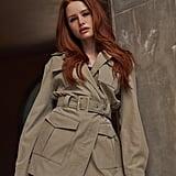 Shein x Madelaine Flap Pocket Detail Belted Coat
