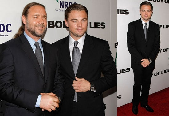 Photos of Leonardo DiCaprio and Russell Crowe at Body of Lies NYC Premiere