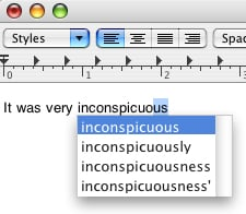 Geek Tip: Completing A Word In TextEdit or Pages