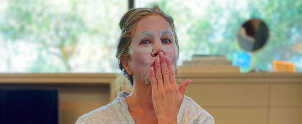 "Jennifer Aniston's Emmys Prep Instagram in Her ""Other Mask"""