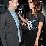 Olivia Wilde and Jason Sudeikis laughed on the red carpet at the LA premiere of Drinking Buddies in August 2013.