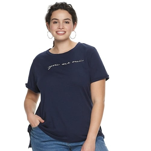 POPSUGAR Plus Size Slouchy Graphic Tee
