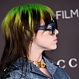 Billie Eilish With Neon Green and Black Hair in 2019
