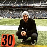 James Van Der Beek attended the Seattle Seahawks vs. St. Louis Rams football game.