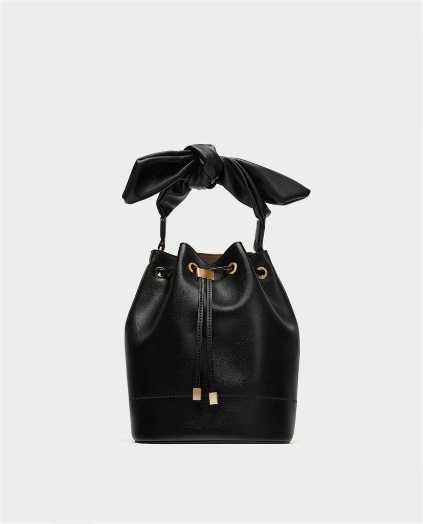 Zara Bucket Bag With Knot