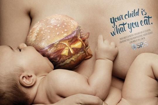 Breastfeeding Campaign Shames Junk Food Eating