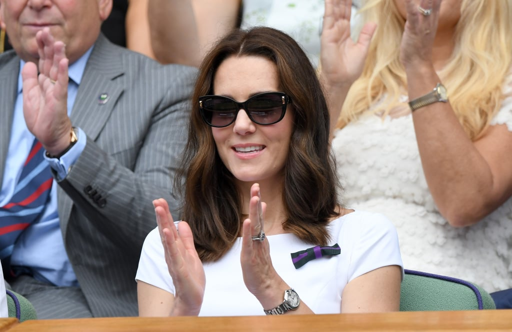 Kate Middleton Wore a White Catherine Walker Dress