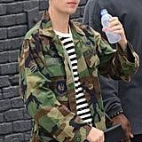 Justin Bieber With Purple Hair   Winter 2016