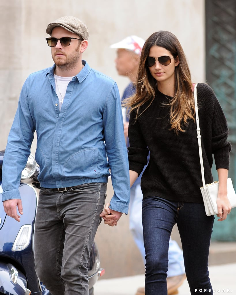 Lily Aldridge and Caleb Followill were hand in hand in NYC yesterday during a late-afternoon stroll. The married pair made their way casually through the city following Lily's much trendier outing on Monday. She was one of the many models and celebrities at the CFDA Fashion Awards, held at the Lincoln Center. Decked out from head to toe in Mary-Kate and Ashley Olsen's clothing line The Row, Lily hit the red carpet in red shoes for a night of fashion celebration.  While Lily attended her own professional event without her man, she is now by Caleb's side as he gears up to headline the annual Governors Ball concert on Randall's Island in NYC today. The couple and their daughter, Dixie, will then head overseas for the Summer as the Kings of Leon front man kicks off his European tour, which will run through mid-August, in London on Wednesday.