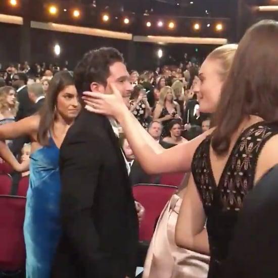 Sophie Turner Kit Harington Game of Thrones Reunion at Emmys