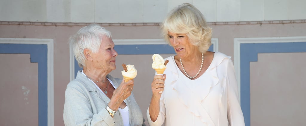 Camilla Parker Bowles and Judi Dench on the Isle of Wight