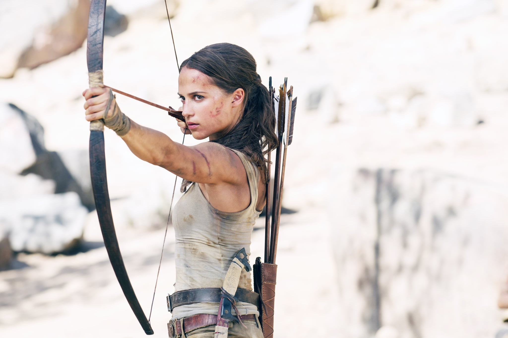TOMB RAIDER, Alicia Vikander, 2018. ph: Ilzek Kitshoff. Warner Bros./courtesy Everett Collection