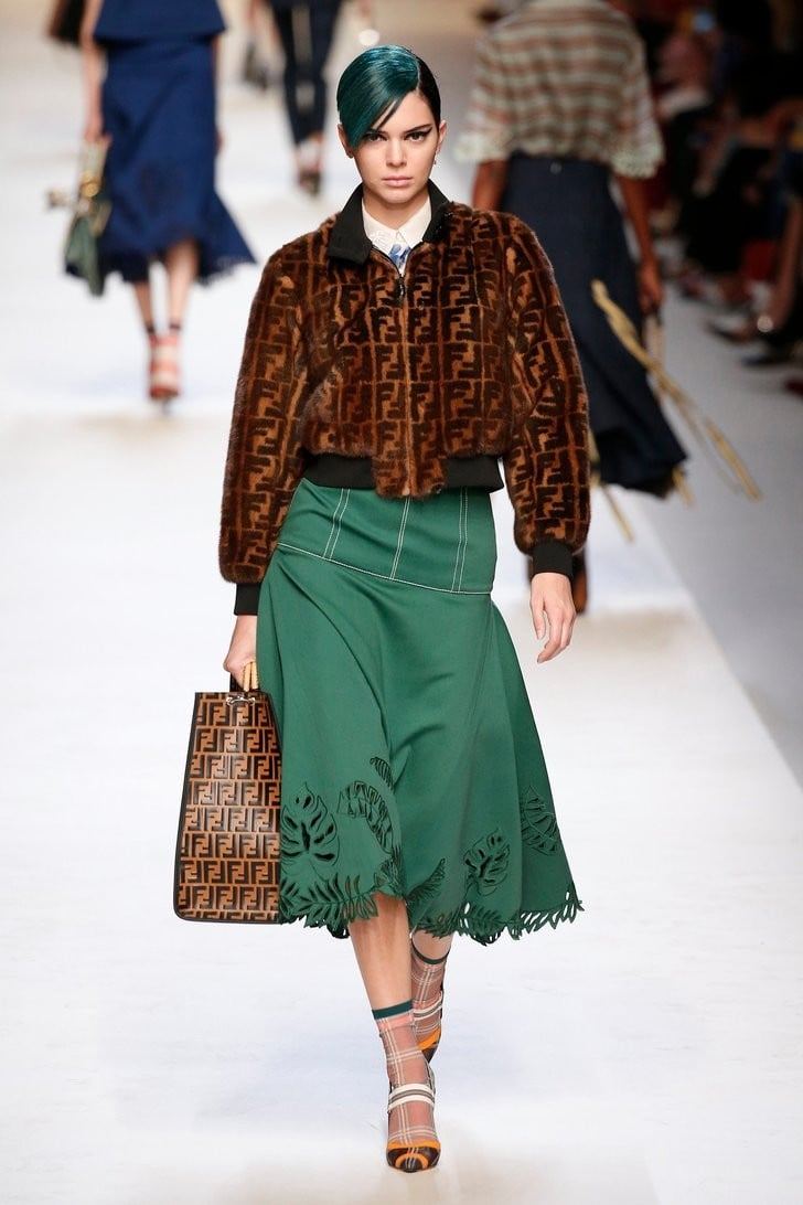 Kendall Jenner's Amazing Fendi Bomber Jacket Is What Fashion Week Is All About