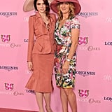 Coco Rocha donned a large hat alongside Steffi Graf for the Kentucky Oaks Fashion Contest on Friday.