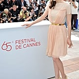 Marion Cotillard joined the festivities at her Rust and Bone photocall at the Cannes Film Festival.