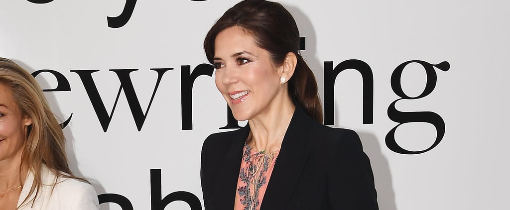 Princess Mary Wearing H&M Dress and Black Blazer 2019