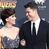 Pictured: Scarlett Johansson and Colin Jost