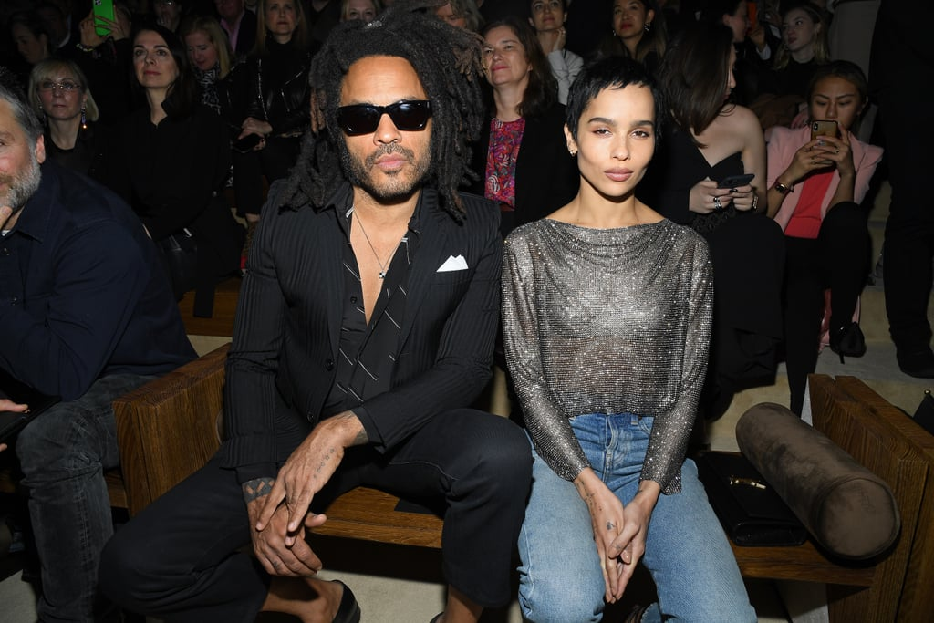 Zoë and Lenny Kravitz's Outfits at Saint Laurent Show