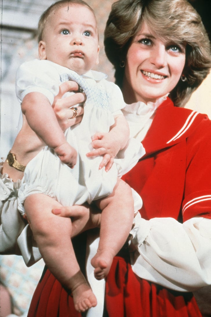 Princess Diana posed with Prince William for a holiday photo in 1982.   Royal Family Christmas ...