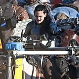 Kristen Stewart as Snow White on the set of Snow White and the Huntsman.