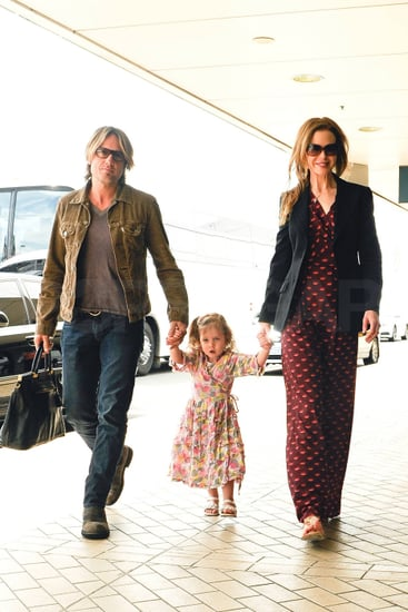 Pictures of Nicole Kidman and Keith Urban Leaving Sydney With Daughter Sunday