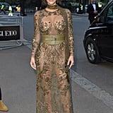 Kim's Sheer Garden-Inspired Dress