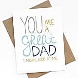 """Great Dad"" Card"