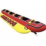 Airhead HD-5 Jumbo Hot Dog 5 Person Rider Inflatable Towable Lake Boat Tube