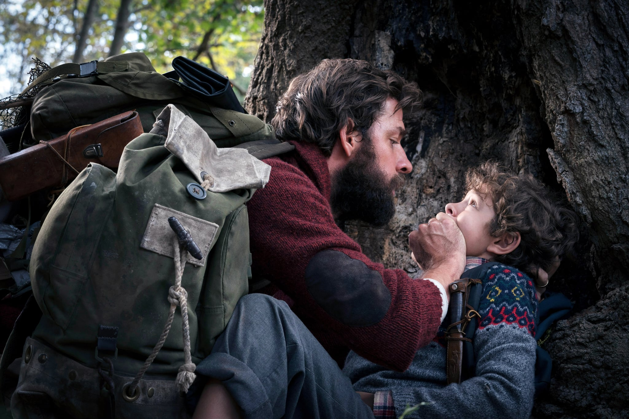 A QUIET PLACE, from left: John Krasinski, Noah Jupe, 2018. ph: Jonny Cournoyer /  Paramount /Courtesy Everett Collection