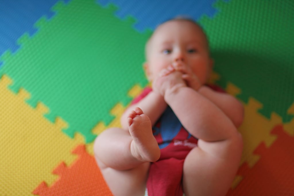 Do a bicycle exercise with gassy babies.