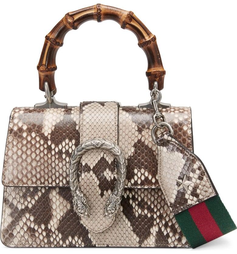 Gucci Mini Dionysus Genuine Python Top Handle Satchel
