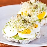 Avocado and Egg Rice Cake Toasts