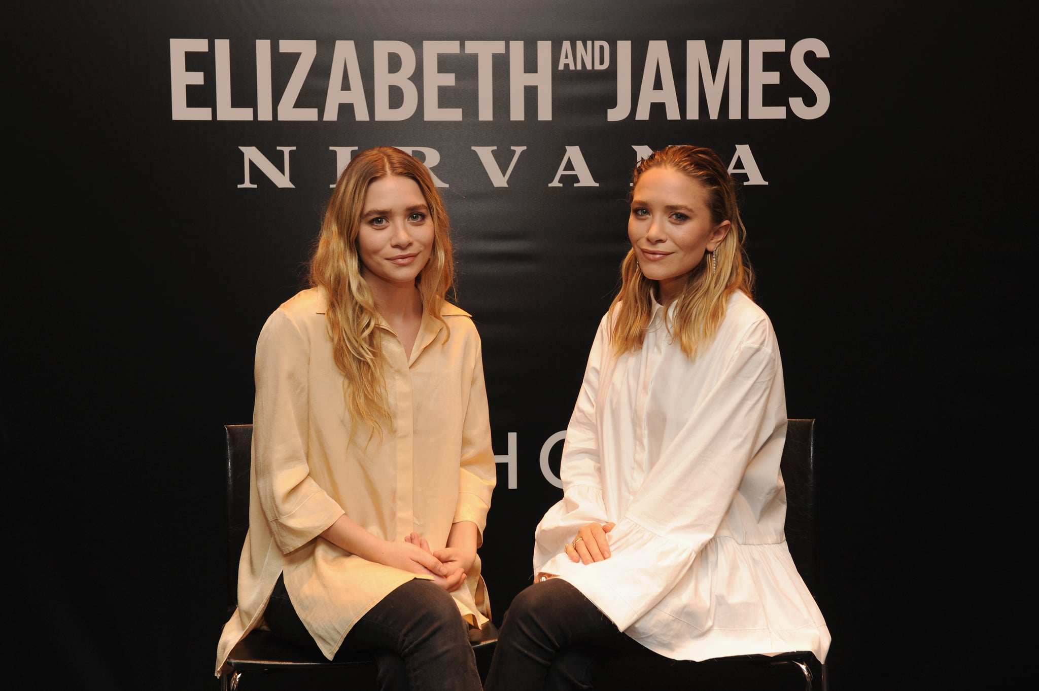 While Ashley kept her long blond locks styled simply, Mary-Kate slicked back the crown of her shorter style at the Elizabeth and James Sephora VIB Rouge Event in 2014.