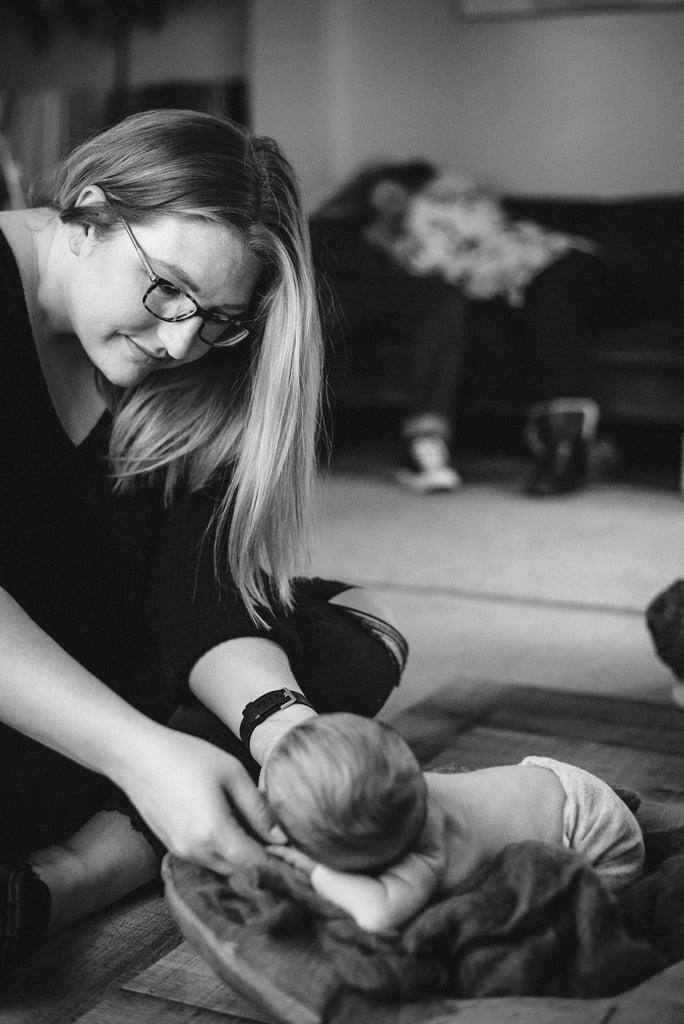 New Parents Asleep at Their Newborn Baby's Photo Shoot