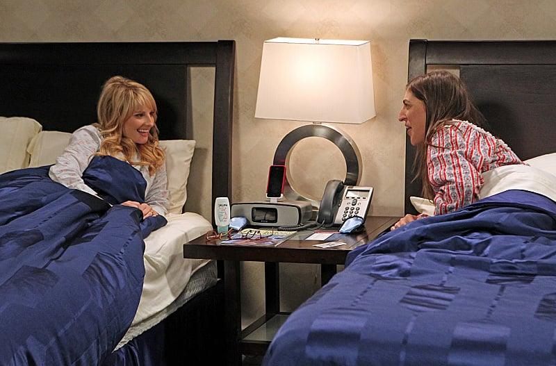 The Big Bang Theory Melissa Rauch and Mayim Bialik on The Big Bang Theory.