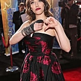 Kat gave her hand injury a thumbs down.