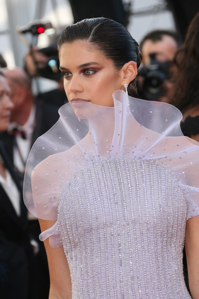 The Ruffles on Sara Sampaio's Armani Prive Jumpsuit