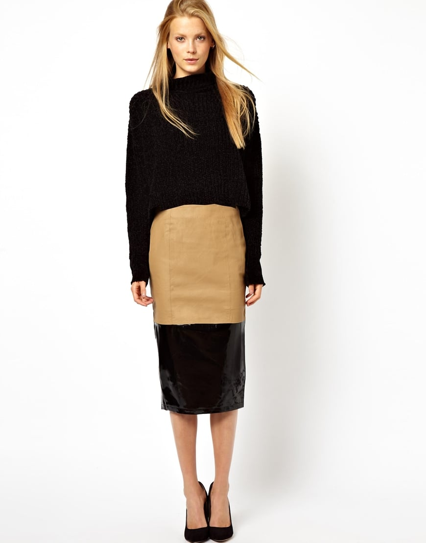 Leather pencil skirt camel – Modern skirts blog for you