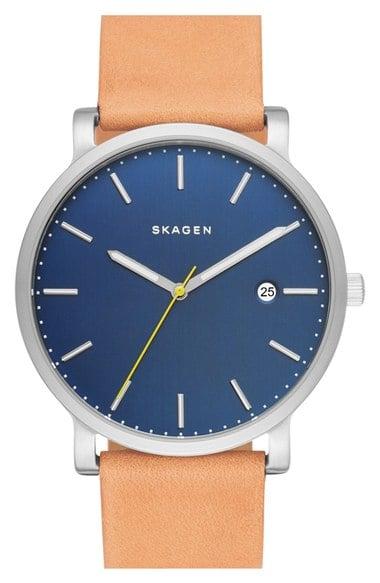 Skagen Hagen Leather Strap Watch ($155)