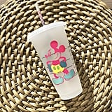 Neon Mickey Mouse Personalized Iced Coffee Cup
