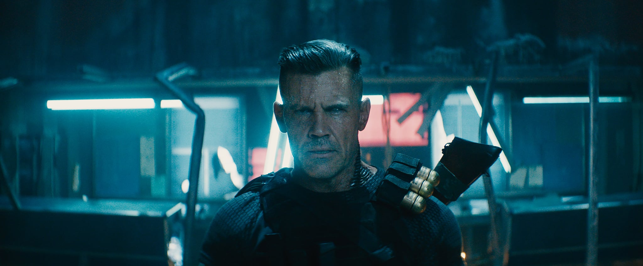 dp2_stills_pull01_rec709_020218.086241 – Josh Brolin as Cable in Twentieth Century Fox's DEADPOOL 2. Photo Credit: Courtesy Twentieth Century Fox.